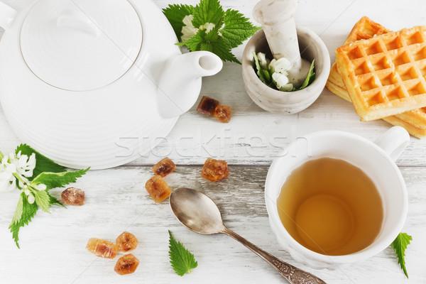 útil té fiesta azúcar frescos Foto stock © saharosa