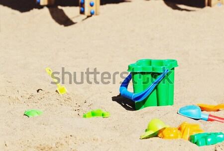 Oude speelgoed verlaten speeltuin achtergrond tijd Stockfoto © saharosa