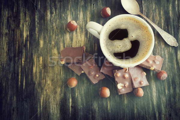 cup of freshly brewed coffee Stock photo © saharosa