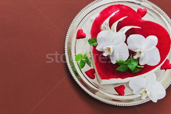 cake in the form of heart Stock photo © saharosa