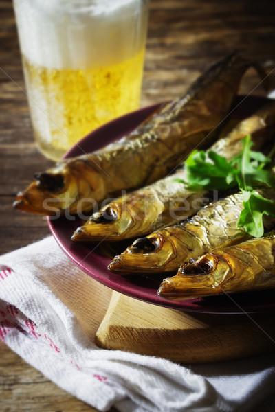 smoked baltic herring Stock photo © saharosa