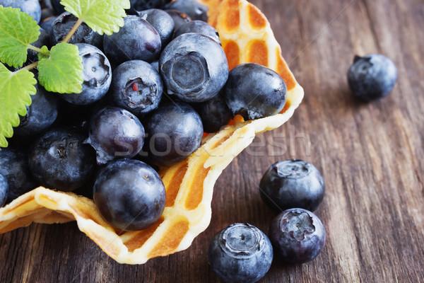 ripe forest blueberries Stock photo © saharosa