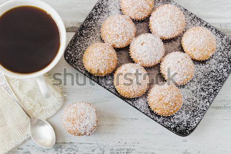 Nuisibles déjeuner noir plaque tasse Photo stock © saharosa