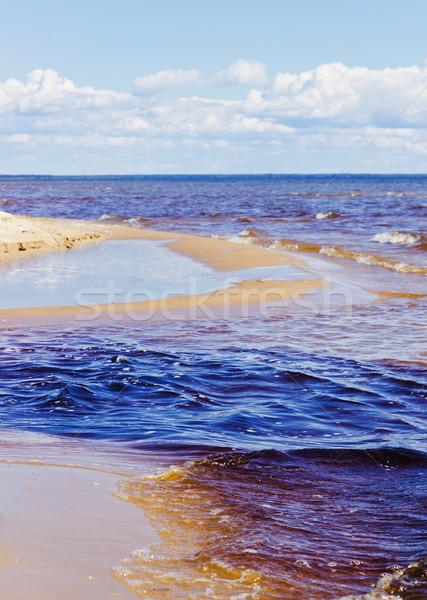 Tengerpart hullámok part Balti-tenger utazás víz Stock fotó © saharosa