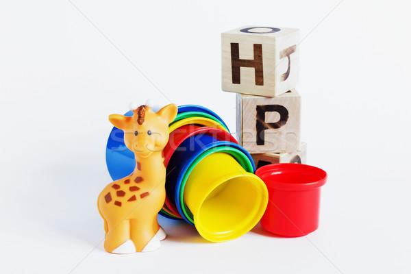 children colored plastic cups Stock photo © saharosa