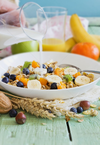 Muesli fruto verde saudável Foto stock © saharosa