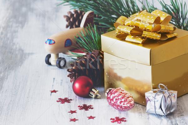 christmas gift box Stock photo © saharosa