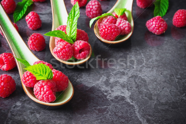 tasty ripe raspberries  Stock photo © saharosa