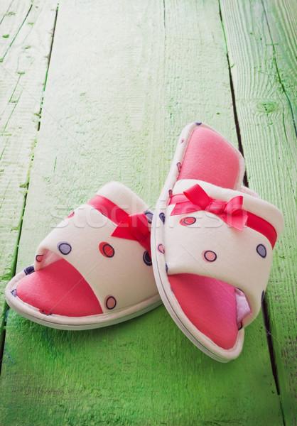 women house slippers Stock photo © saharosa