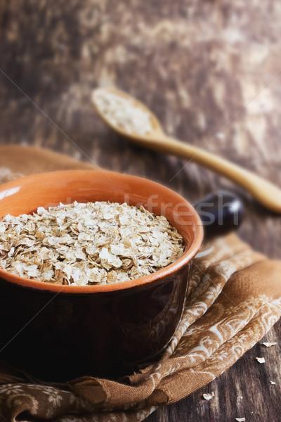 Avena tazón edad salud Foto stock © saharosa