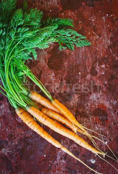 freshly harvested carrots Stock photo © saharosa