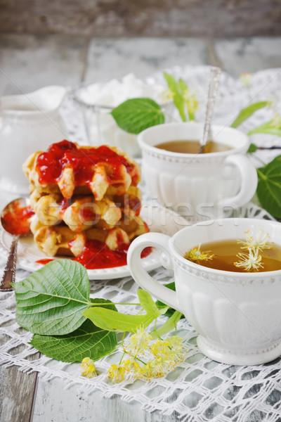 hot linden tea  Stock photo © saharosa