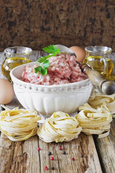 minced meat Stock photo © saharosa