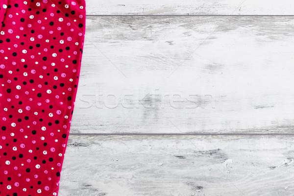 Piros ruha fehér fából készült hátterek textúrák Stock fotó © saharosa
