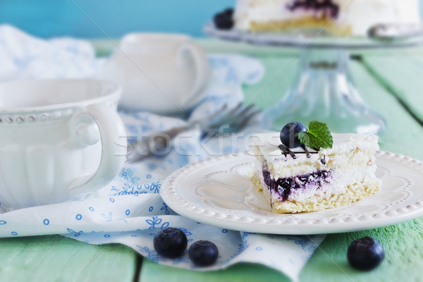 blueberry cake Stock photo © saharosa