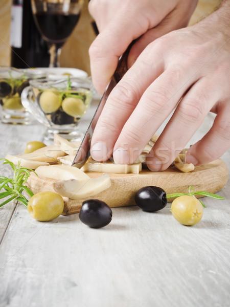 Cocina setas cocinar tabla de cortar selectivo Foto stock © saharosa
