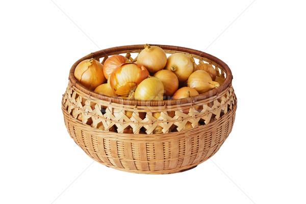 Gouden ui rijp organisch uien Stockfoto © saharosa