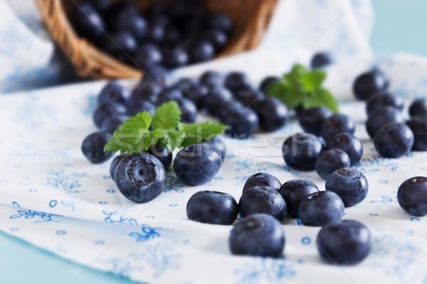 Stock photo: fresh blueberries