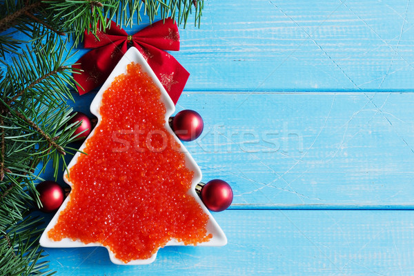 red caviar on the christmas table Stock photo © saharosa
