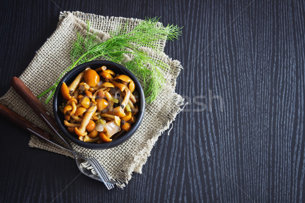 delicious marinated mushrooms Stock photo © saharosa