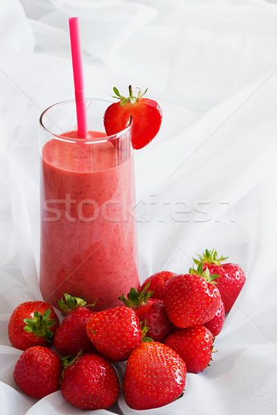 Vidrio fresa zalamero maduro fresas mesa Foto stock © saharosa