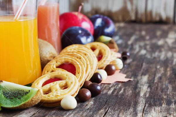 cookies and juice Stock photo © saharosa