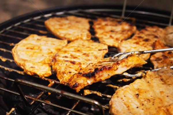 приготовления стейк соус гриль улице Сток-фото © saharosa