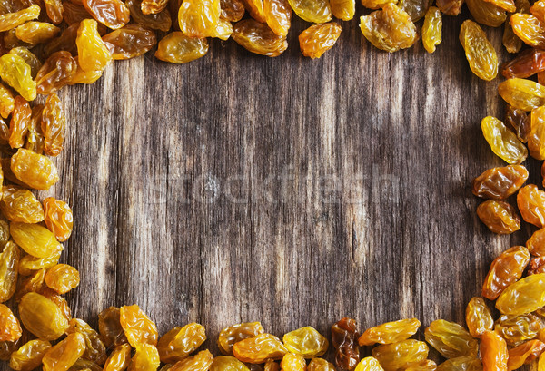 Mazsola étvágygerjesztő öreg fából készült közelkép egészség Stock fotó © saharosa