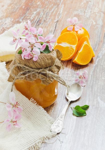 orange marmalade Stock photo © saharosa