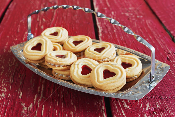 Dolce san valentino cookies legno vacanze Foto d'archivio © saharosa