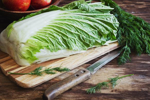 chinese cabbage Stock photo © saharosa