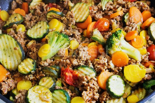 Párolt zöldségek hús fűszer Európa hagyományos Stock fotó © saharosa