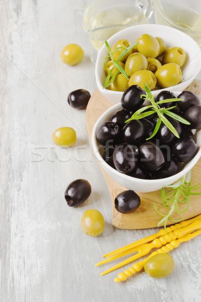 異なる マリネ オリーブ ボウル 食品 ストックフォト © saharosa
