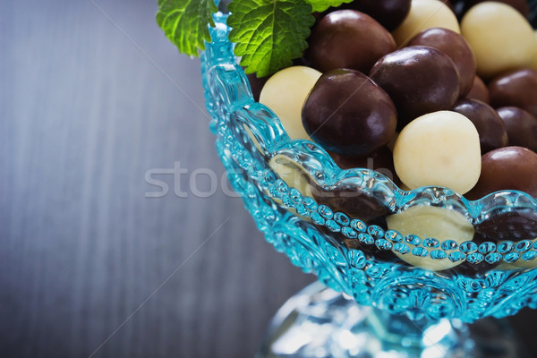 chocolates in a glass bowl  Stock photo © saharosa