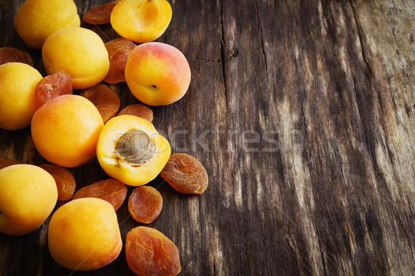fresh and dried apricots Stock photo © saharosa