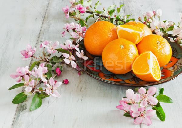 ripe juicy oranges Stock photo © saharosa