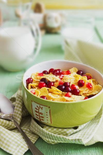 bowl of cornflakes Stock photo © saharosa