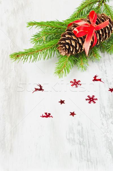 Christmas kegel lint decoraties licht Stockfoto © saharosa