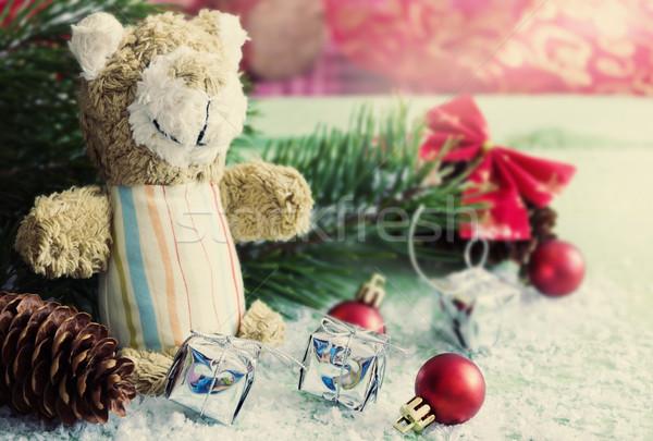 Рождества игрушками натюрморт изображение избирательный подход Сток-фото © saharosa