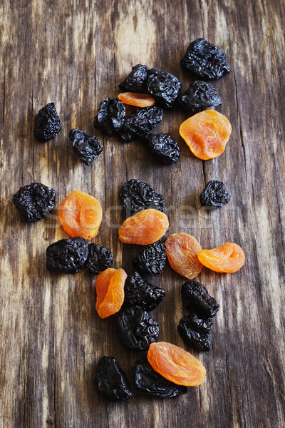 dried prunes and dried apricots Stock photo © saharosa