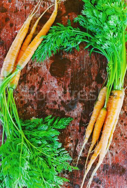 Zanahorias edad jardín Foto stock © saharosa