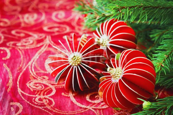 Christmas decoratie tabel nieuwjaar Stockfoto © saharosa