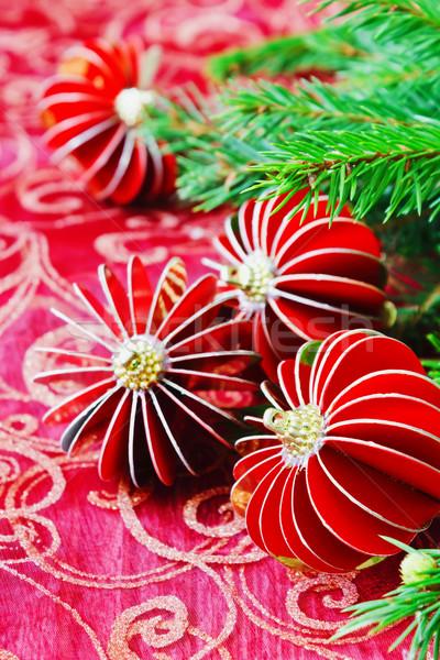 Noel dekorasyon tablo yılbaşı Stok fotoğraf © saharosa