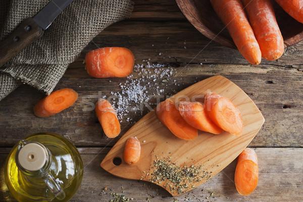 свежие морковь специи старые Сток-фото © saharosa