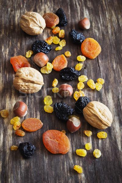 Сток-фото: сушат · плодов · орехи · различный · старые