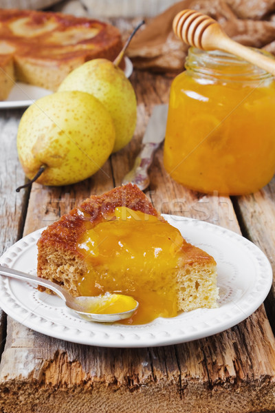cake with pear jam  Stock photo © saharosa