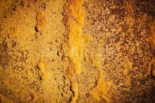 óxido hermosa Rusty pieza hierro espacio de la copia Foto stock © saharosa