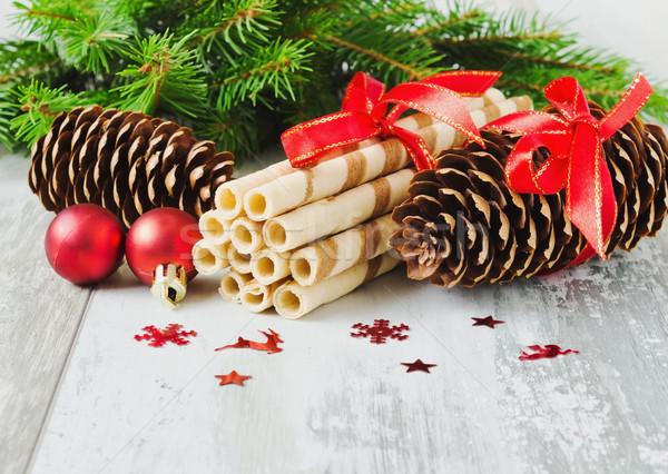 christmas cookies and christmas decorations Stock photo © saharosa