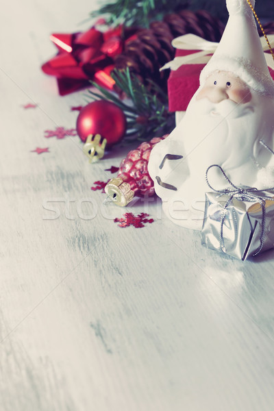 santa claus and christmas toys Stock photo © saharosa