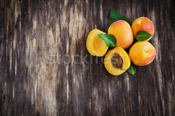 delicious ripe apricots Stock photo © saharosa